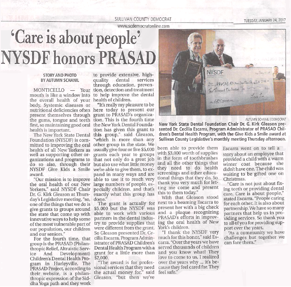 CDHP GKAS SCD 2017 01 24 v1 MR2 Care is about people NYSDF honors PRASAD