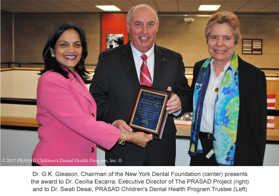 2017: PRASAD CDHP Receives Fourth NYS Dental Foundation Award