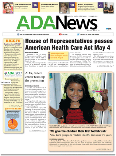 The American Dental Association (ADA) published an article about PRASAD