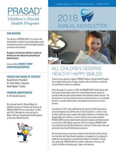 cdhp nwsltr 2018 cover PRASAD CDHP 2018 Annual Newsletter