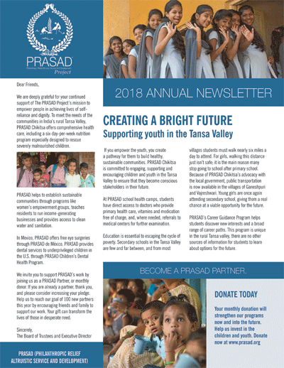 2018 nsltr cover 2018 Annual Newsletter