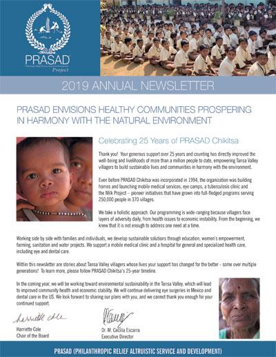 prasad nwsltr 2019 cover 2019 Annual Newsletter
