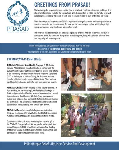 PRASAD Spring Appeal Letter 2020 Spring Appeal