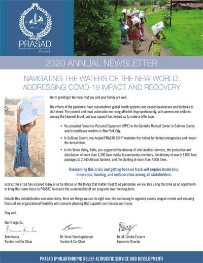 prasad newletter 2020 cover 2020 Annual Newsletter