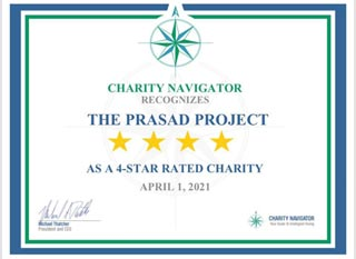 The PRASAD Project Receives 4-Star Rating from Charity Navigator!